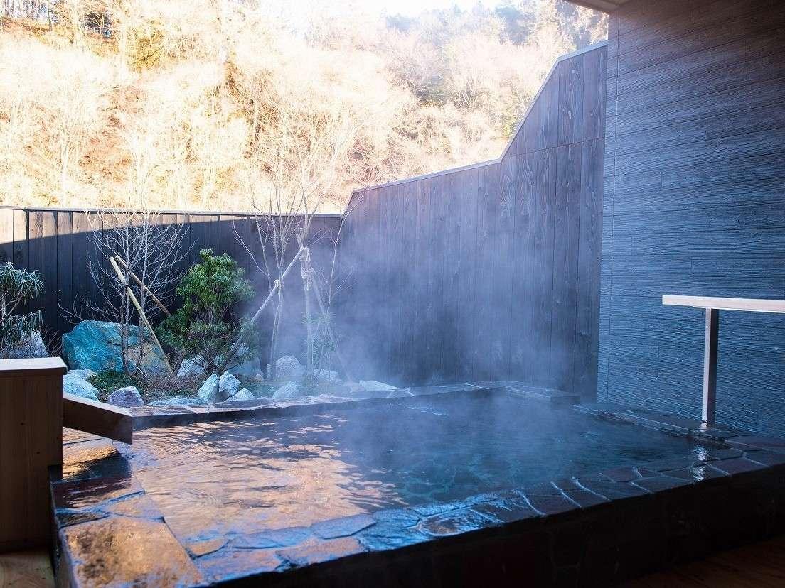 露天風呂で塩原温泉を満喫
