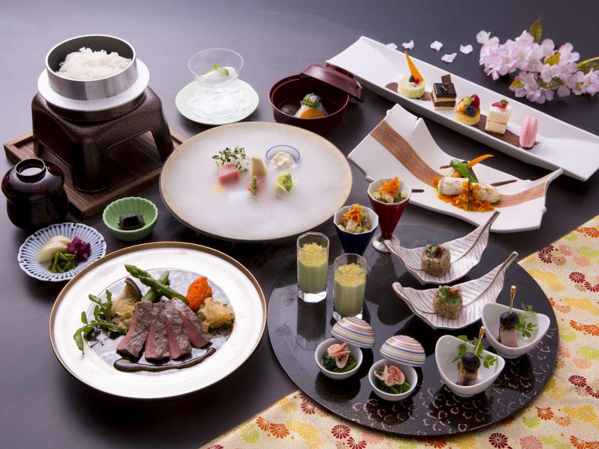 食事は和と洋を融合させた創作料理(イメージ)