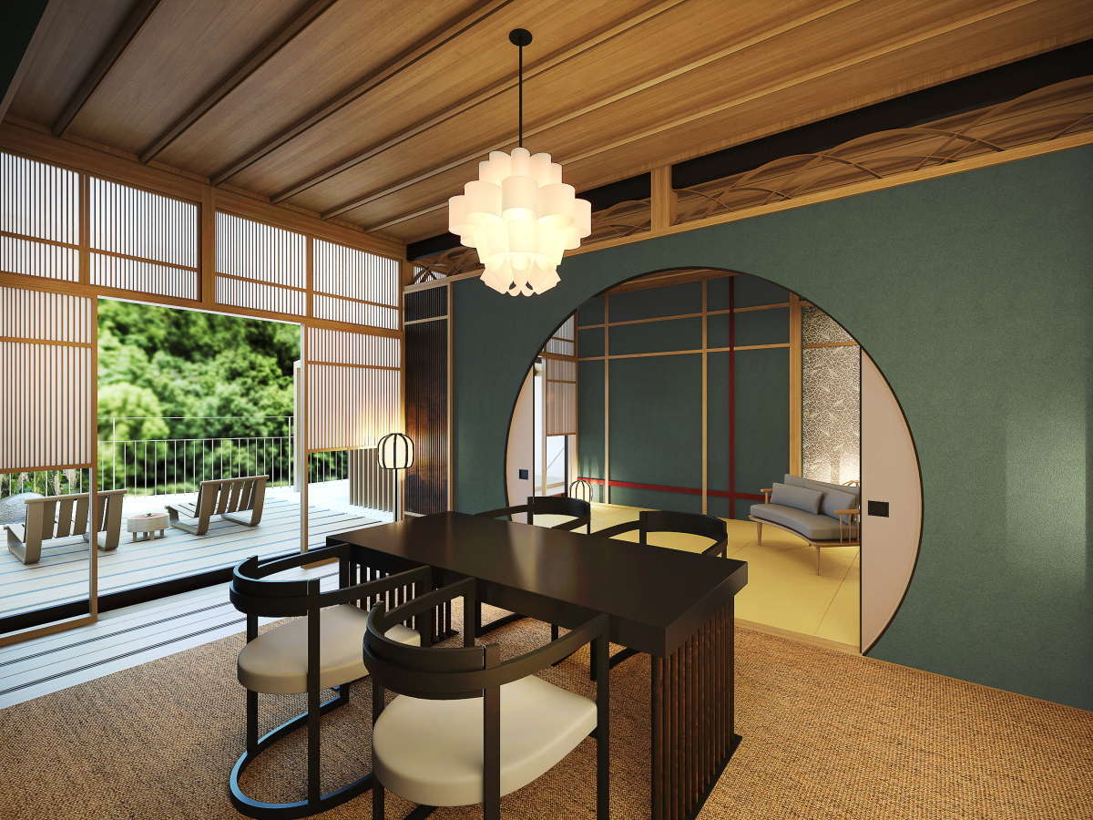 それぞれ異なる空間の特別客室