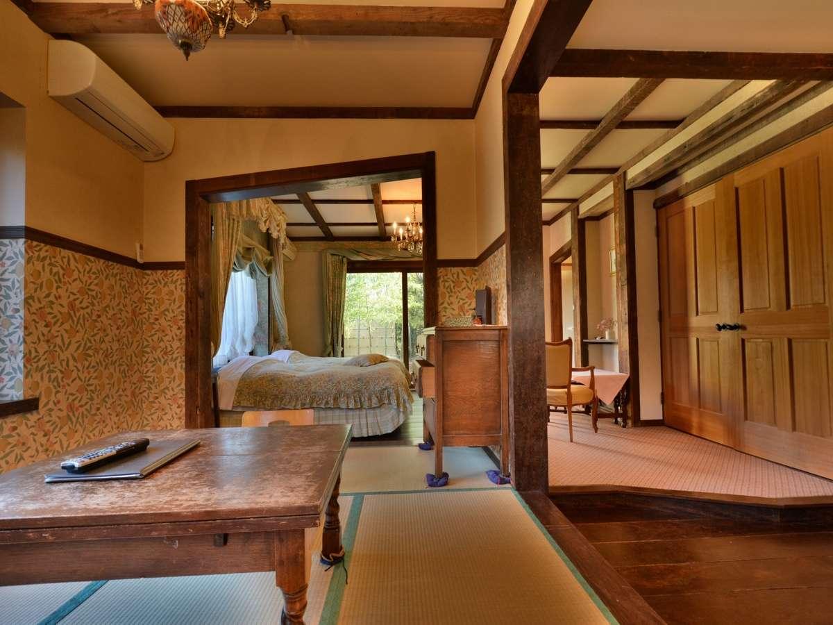 全室露天風呂付き客室 英国調ホテル 石の家