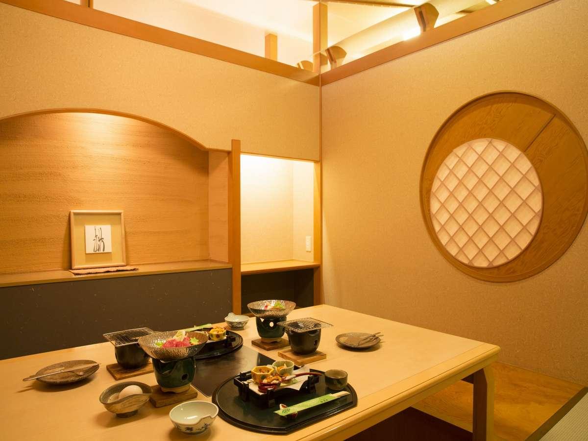 北陸福井あわら温泉 美松 個室のお食事場所