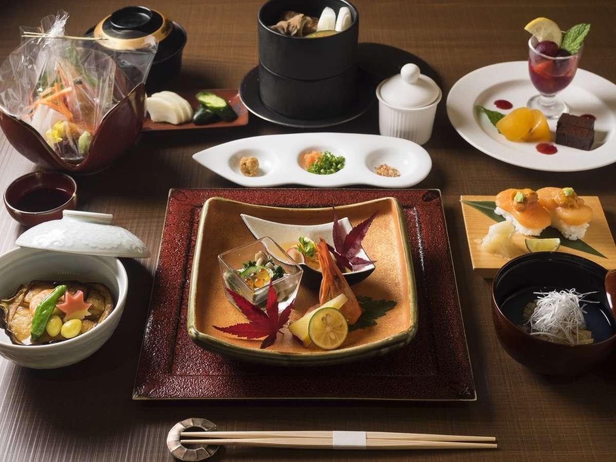 北海道産の食材を使った料理