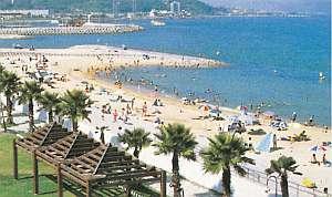 浦県民サンビーチは車で5分