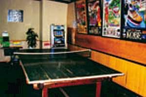 卓球台も無料貸出!楽しい旅の思い出に。ピンポン玉がどちらに弾むかは、台まかせ~