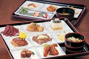 人気のいろどりご膳で様々な料理を堪能できる