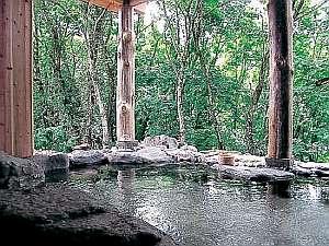 天然温泉100%の貸切露天風呂