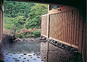大自然に囲まれた癒し空間の露天風呂