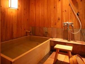 全室にヒバのお風呂をご用意!香住温泉掛け流し!(温調の為加温。24利用可)