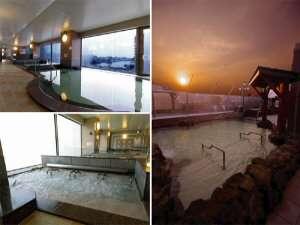 ★屋上露天風呂や内風呂など、当館自慢の温泉設備です♪日帰り入浴も可能ですよ♪