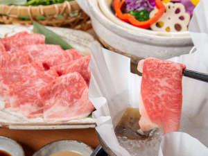 *【夕食一例/松阪牛しゃぶしゃぶ(2人前)】
