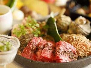 炙り焼き会席:素材の旨みを引き出し、お好みの焼き加減でお召し上がりください。