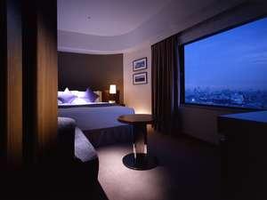【デラックスダブルルーム】〔22㎡〕新宿の高層ビルが望めるお部屋もございます。