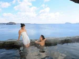 女性側露天風呂