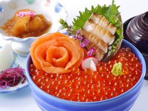 A級グルメ!【南三陸キラキラいくら丼】※専用プランまたは別注にてお召し上がりいただけます。