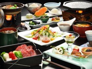 【ご夕食一例】山形牛陶板焼き膳 ※イメージ