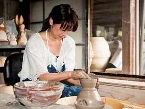 益子焼。陶芸体験。