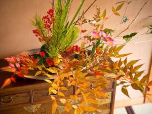 冬の生け花 四季の彩でおもてなし
