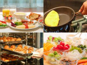 北海道の食材にこだわったクラビー自慢の朝食