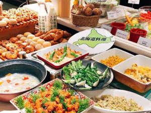 北海道の食材・メニューにこだわったクラビー自慢の朝食です。