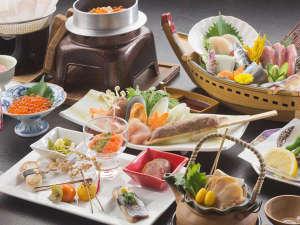 東北に来たら味わいたい、秋の風物詩「秋刀魚」のすり身などメインとしたお部屋食一例