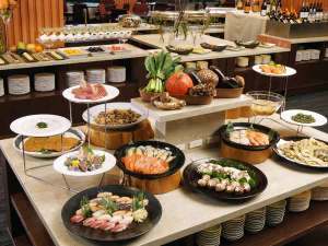 三陸の地産食材を楽しむ 夕食ビュッフェ一例
