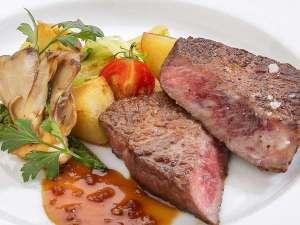 前沢牛ステーキ付きプラン 一例