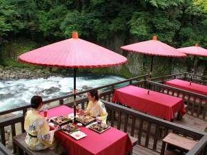 【川床】渓流を間近に感じながらお食事を♪3組限定