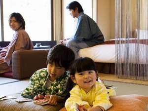 【ゆすらん】ごろんと寝転べる畳もあるので、子供と一緒でも過ごし易い(一例)