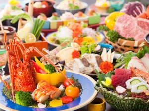 【特選会席/レストラン】メイン鉄板焼はロブスターor牛ロースから選べる全11品の会席(一例)