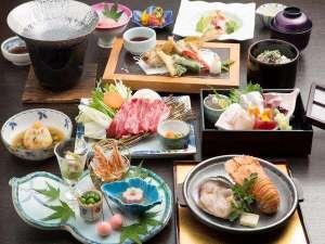旬の素材がたっぷり♪和会席料理「魚とお肉の特選海里会席コース」