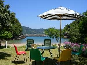 宍喰・海南・牟岐の格安ホテル ペンションししくい  目の前に広がるプライベートビーチ