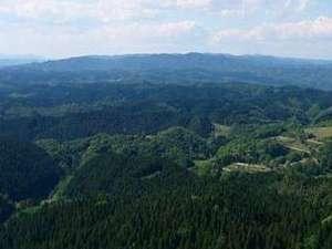 御岩山山頂からの景色 夏季