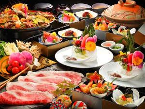 ■福島牛のしゃぶしゃぶ■地元ブランド牛を愉しむ贅沢なお手前料理。