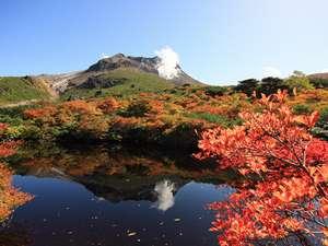 【那須岳(茶臼岳)】山頂周辺の紅葉風景