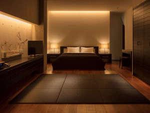 スタイリッシュでシンプルな客室