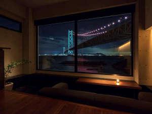 明石海峡大橋 神戸の夜景一望