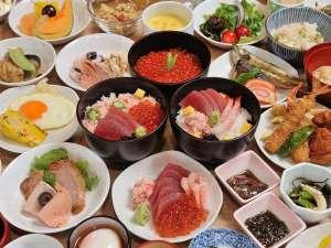 朝食バイキング★豪華な海鮮丼♪
