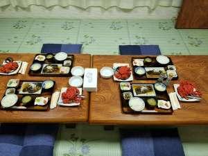 根室の花咲蟹夕食※花咲蟹をご希望の方は、ご連絡ください。