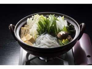当館春のオリジナル鍋「つくし鍋」