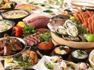 2017年冬-ポルトブッフェ(※イメージ)『広島牡蠣』や『蟹』など、冬の味覚を約40種ご用意♪