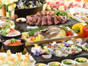 ブッフェ:2018初夏<瀬戸内海産鯛>鯛塩釜焼ステーキ海鮮丼食べ放題※イメージ