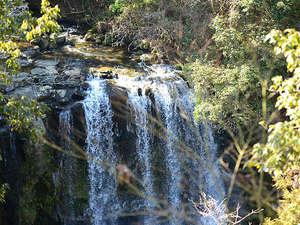 当館の露天風呂からのダイナミックな眺め『桜滝』
