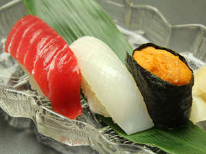 新鮮な魚介をお寿司でどうぞ♪