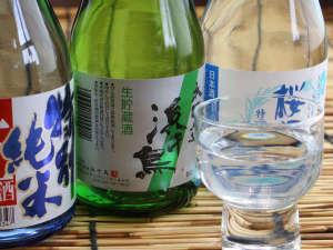 飲み比べセットは岩手の地酒3種にてご用意いたします。
