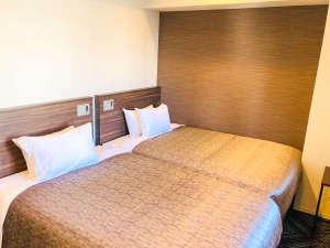 ◆ツインルーム◆全室シモンズベッドを完備しております♪