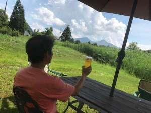 磐梯山を見てエビス生で乾杯!