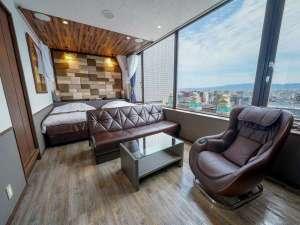 ■客室:デラックスパノラマツイン/30平米・最上階から見下ろす景色は圧倒的♪