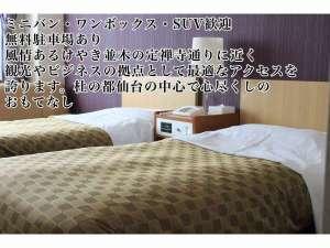 洋室禁煙室ルーム3名様ご利用の場合はソファーをエキストラベットとしてにご利用頂きます。