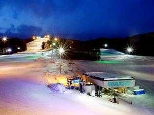 標高差218m、全長1300mの本格的コースとホテルは2つのリフトで結ばれています。