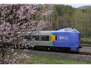 JR宗谷本線に隣接。すべてのお部屋から鉄道が眺められます。